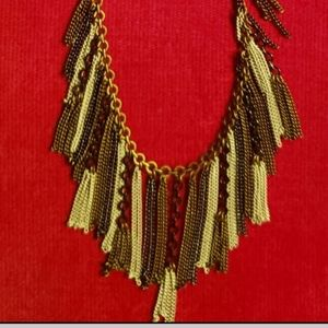 Silpada Fringe Benefit Statement Necklace